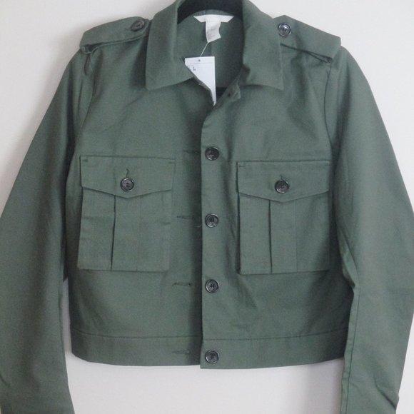 H&M Short Cotton Cargo Jacket